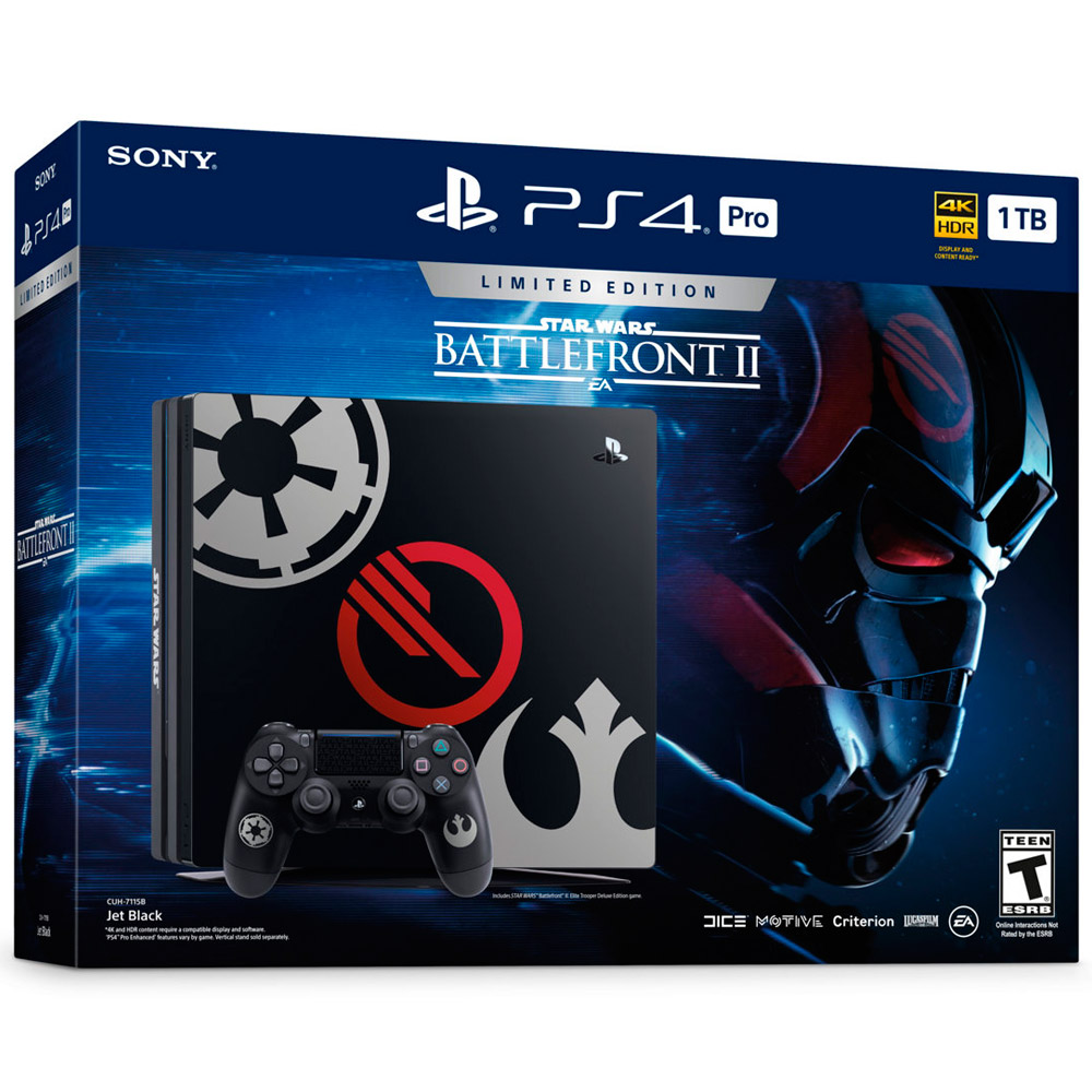 Console Sony Playstation 4 Pro Star Wars BattleFront 2 Special Edition