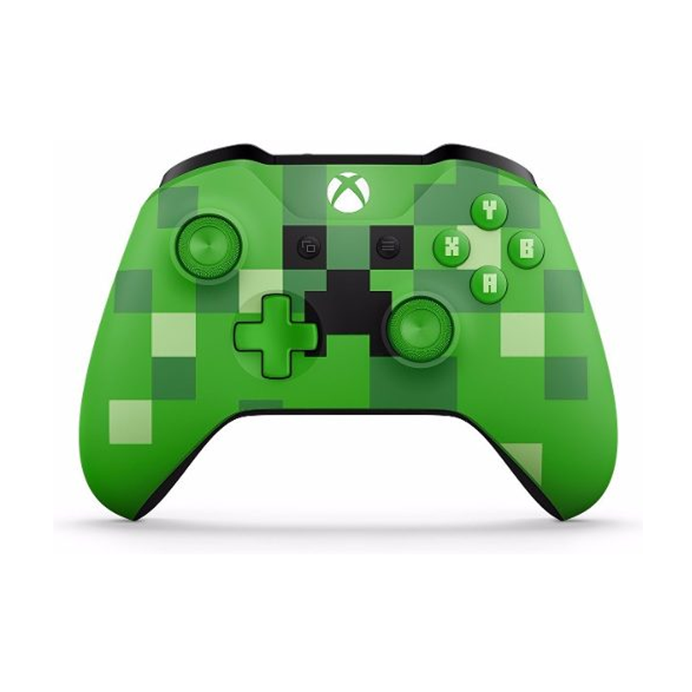 Controle Xbox One S Minecraft Creeper Verde